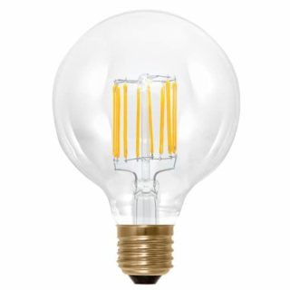 Filament E27 LED bol 95mm Edison dimbaar