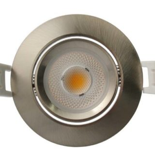 Spot encastrable LED 7W dimmable Inox blanc chaud