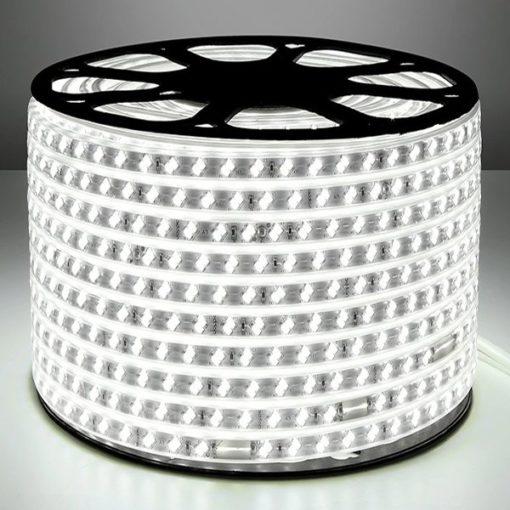 230v led strip 5730smd koud-wt