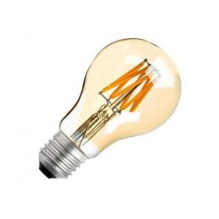 E27 filament LED lamp 8W dimmable GOLDEN
