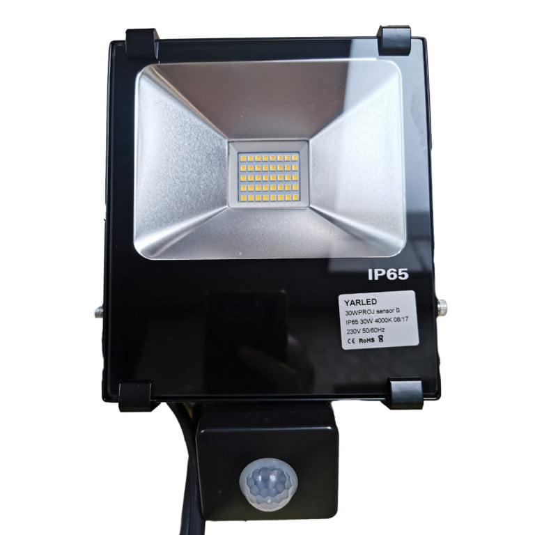 30W LED bouwlamp PRO schijnwerper 4000k met senor 1