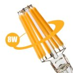 E27 LED lamp 8W-60W 2700k dimbaar ST64