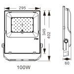 LED breedstraler 100W koud-wit IP65