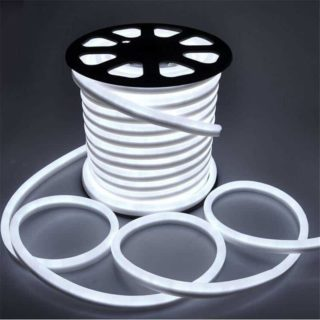 LED strip 230V Neon flex cold-white IP65 per meter