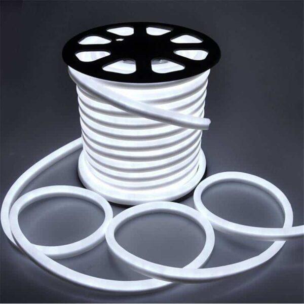 LED strip 230V Neon flex koud-wit IP65 per meter