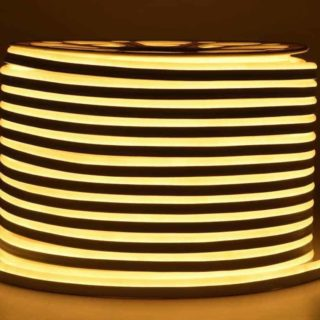 LED strip 230V Neon flex warm-white IP65 per meter
