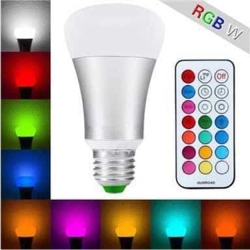 E27 10W RGBW LED lamp met remote