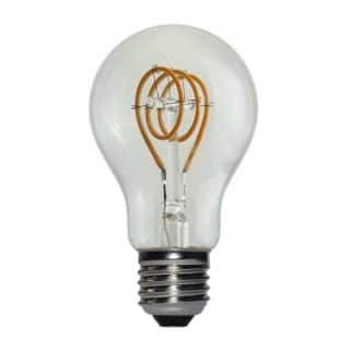 E27 3W LED filament curved dimbaar