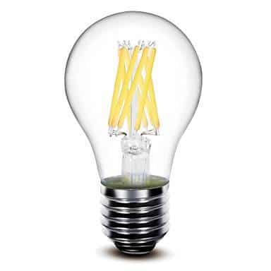 e27 filament led lamp 8w dimbaar 2200k