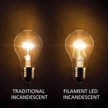 E27 filament LED lamp 8W dimbaar 2200k