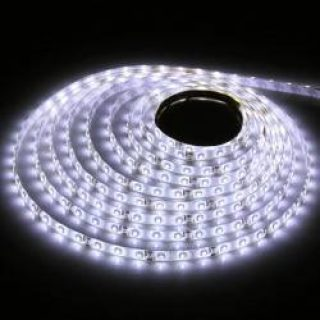 Bande LED 12v 5m 300SMD 3528 blanc froid 5500k IP67