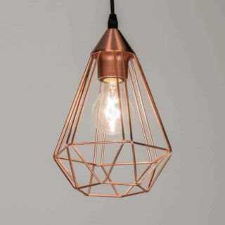 LED copper hanging lamp