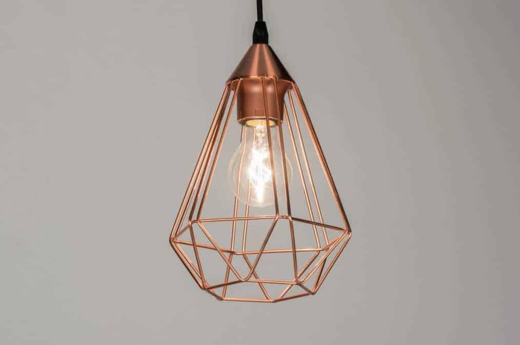Suspension LED en cuivre