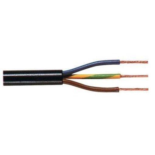 Installatiekabel | Elektrakabel  - zwart - 3x 0,75mm - per meter 1