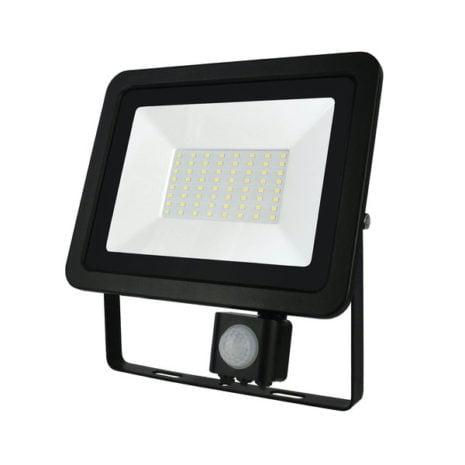 LED breedstraler 50W 6000K met bewegingssensor 1