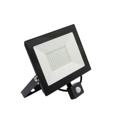 LED breedstraler 100W koud-wit IP65 met sensor ( vervangt 800w) 3