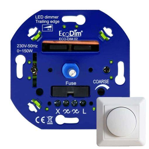 Trailing Edge - fase afsnijding dimmer voor 230v LED Lampen 0-150w + Frontje 1