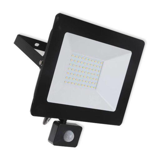 LED breedstraler 100W koud-wit IP65 met sensor ( vervangt 800w) 1