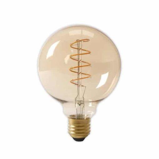 Calex LED Flex Filament Globelamp 220-240V 4W 200lm E27 G125 | Goud 2100K Dimbaar 1