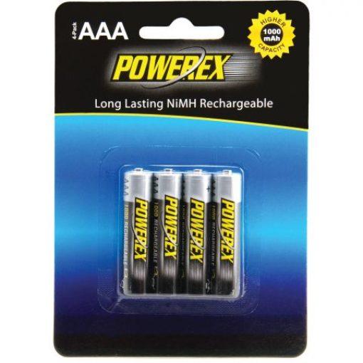 Powerex Herlaadbare AAA-batterijen - 1,2V 1000mAh - NiMH - 4 stuks 1