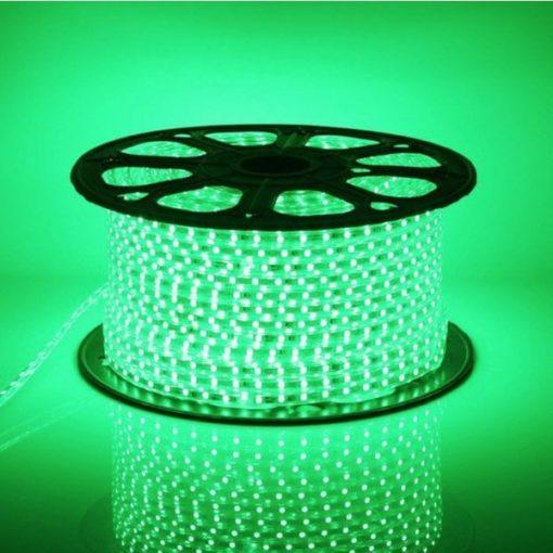 LED strip 220v / 230v op rol van 50m IP65 | Groen 1