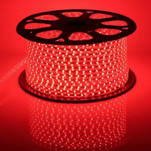 LED strip 220v / 230v on a roll of 50m IP65 | Red 1