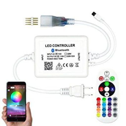 RGB App/Bluetooth controller met afstandsbediening voor 230v RGB led strip 1