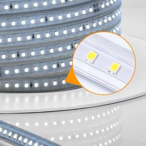 LED strip 230V met geïntegreerd circuit 2835-120SMD 50m | Daglicht 6000k 1