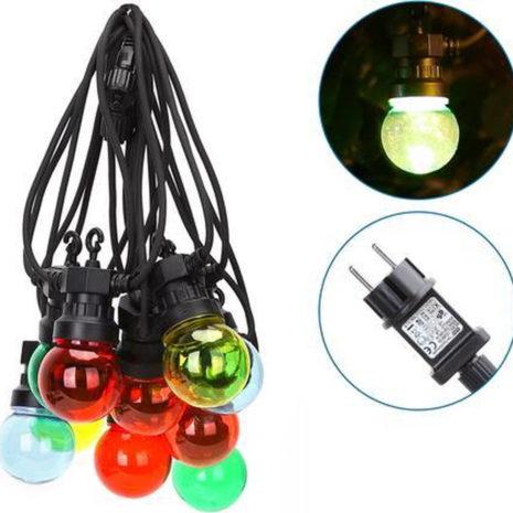 Lichtsnoer - LED Lampjes Slinger - 10 Kleuren LED lampen - 3000K Warm wit - 8 Meter - IP44 1
