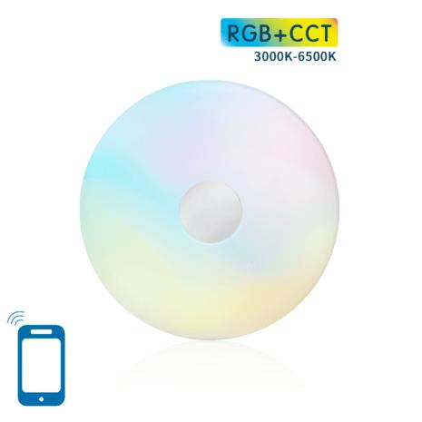 Smart LED plafondlamp | Wifi dimbaar | 18w Rond Ø340mm | RGB+ 3000K – 6500K 1