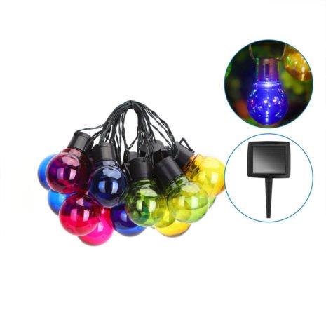 Solar Lichtsnoer - LED Lampjes Slinger - 20 Kleuren LED lampen - Multi color - 5,8 Meter - IP44 1
