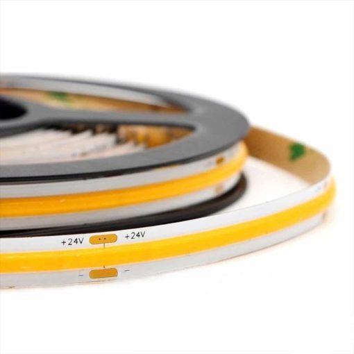 LED COB strip 24v 5m Warm-wit | 2700k 8w/m 1